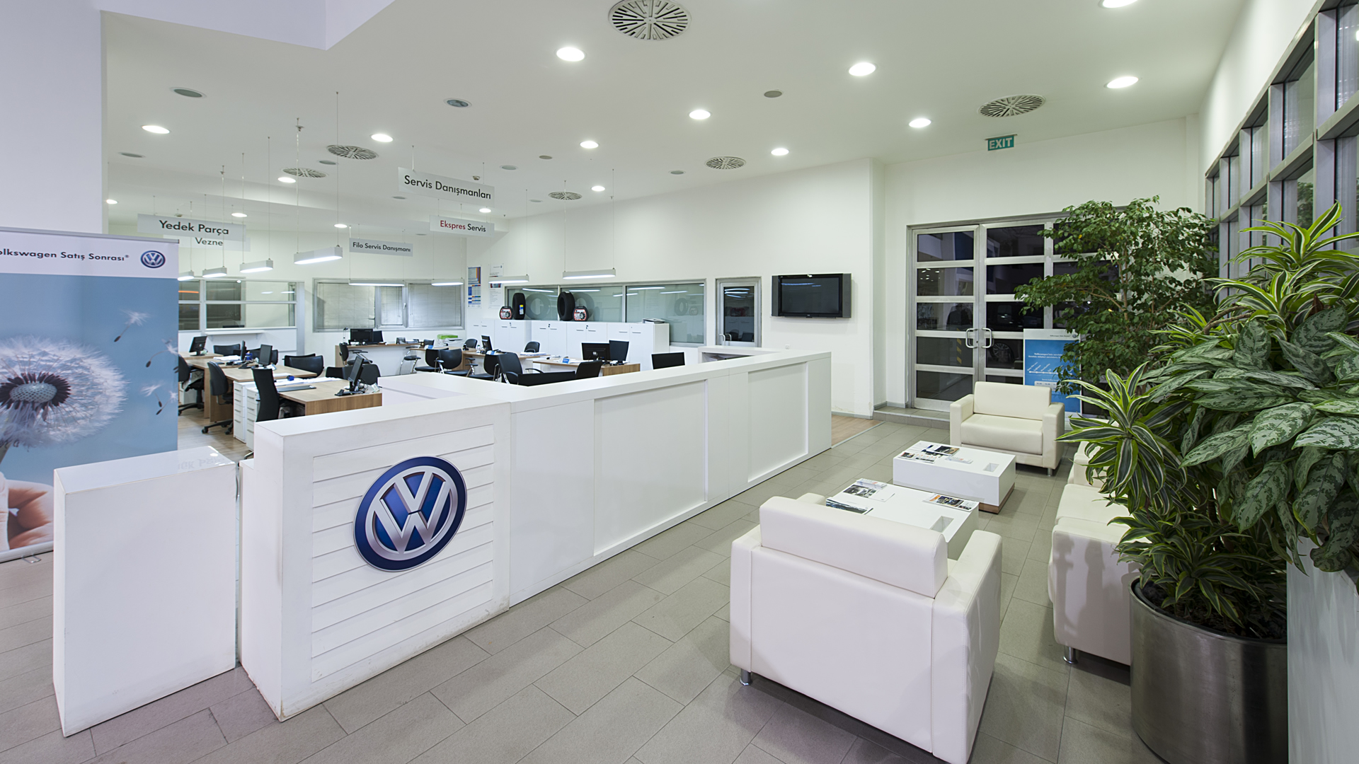 Volkswagen Uzay Oto Showroom Görseli